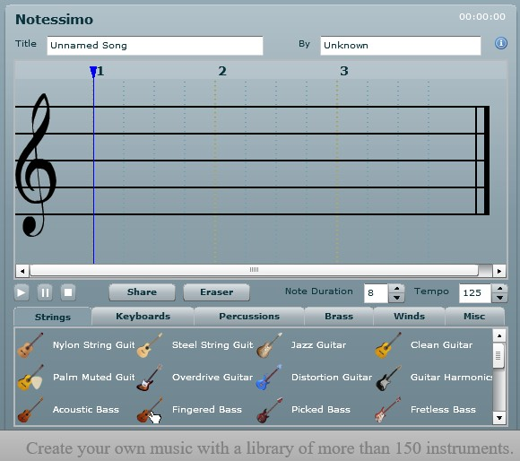 Make your own song within minutes and sound like a pro. Just for fun, or for serious music production. Record and arrange your song. It's free
